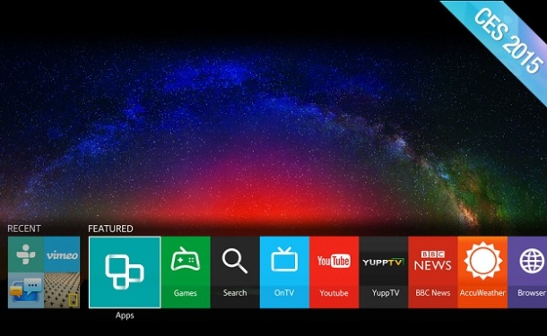 Tizen TV interface
